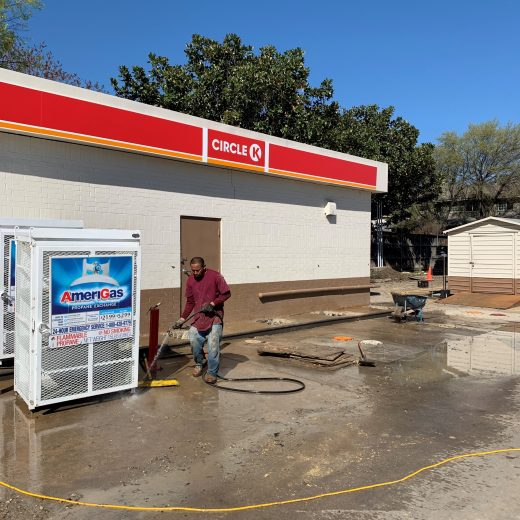 foundation repair project at restaurant in dallas, tx
