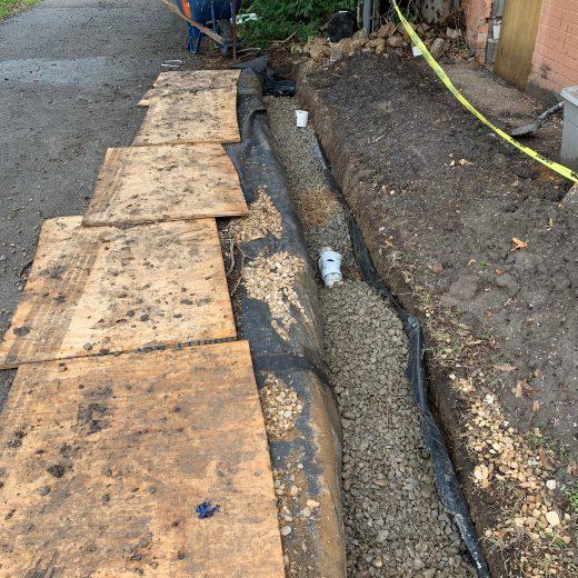 french drain installation in dallas, tx