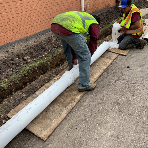 lining drainage pipe in dallas, tx